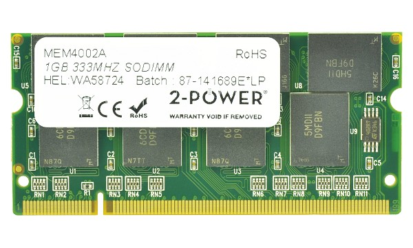 Satellite M50-145 1GB PC2700 333MHz SODIMM