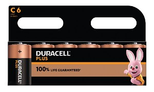 Duracell Plus Power de type C (Pack de 6)