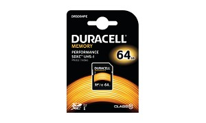 Carte mémoire Duracell 64GB SDHC UHS-I